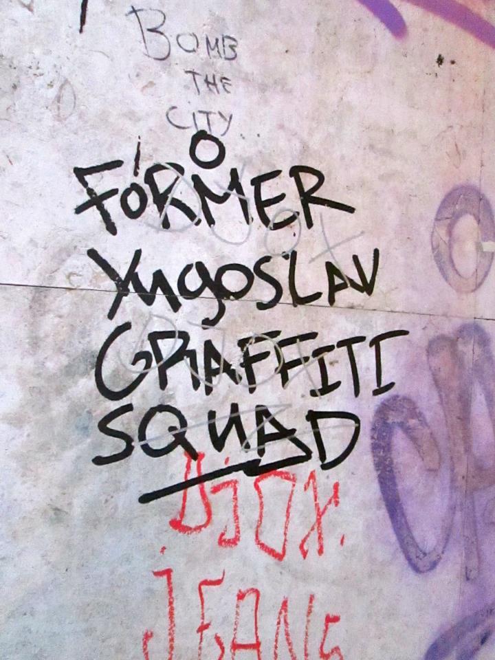 Graffitis of Beograde, Serbia
