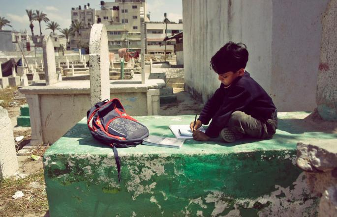 Photo of The Day: Homework in Gaza
