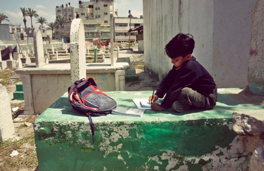 Photo of The Day: Homework in Gaza