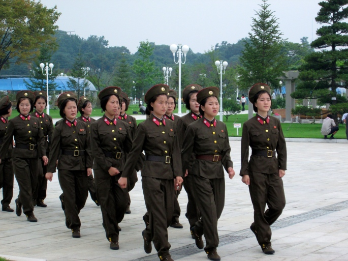 North Korea Military women soldiers Stanito