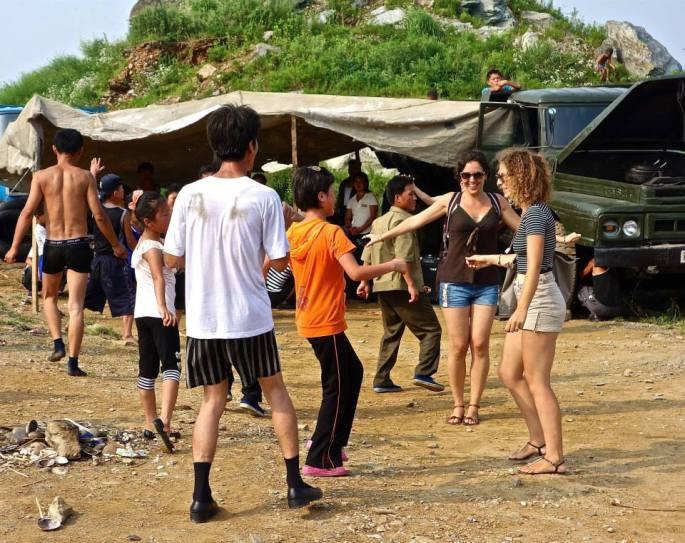 North Korea Nampho beach dance Stanito