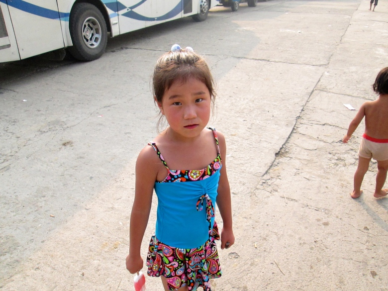 People in Nampho little girl stanito