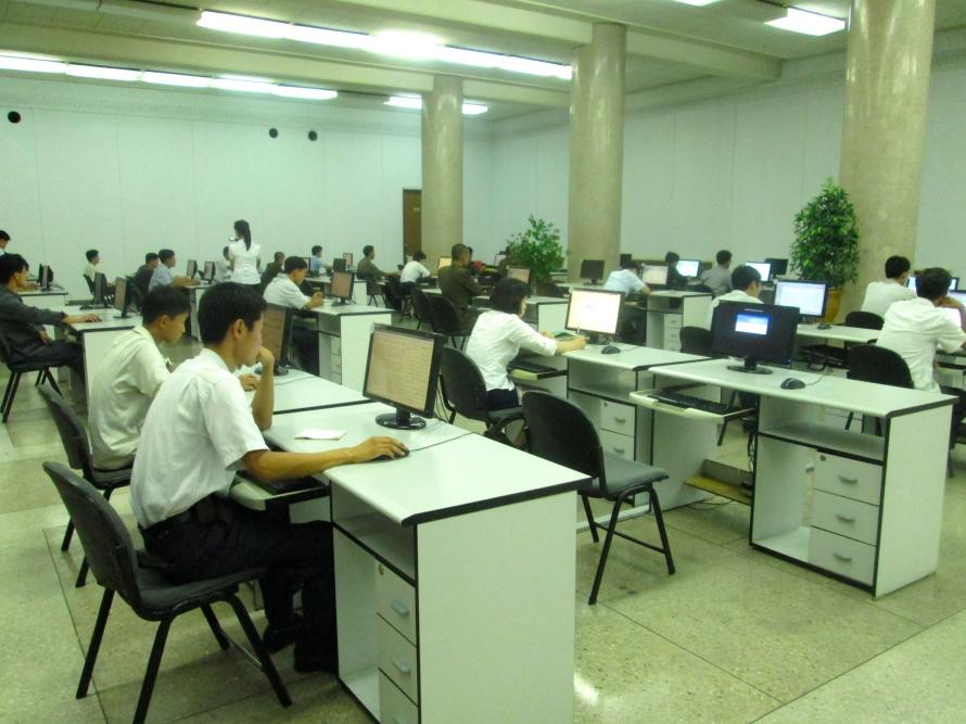 People in Pyongyang library stanito2