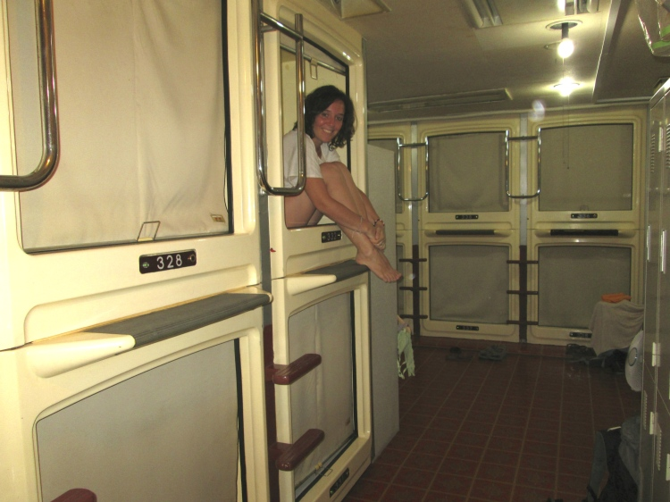 Stanito capsule hotel adventure Tokyo