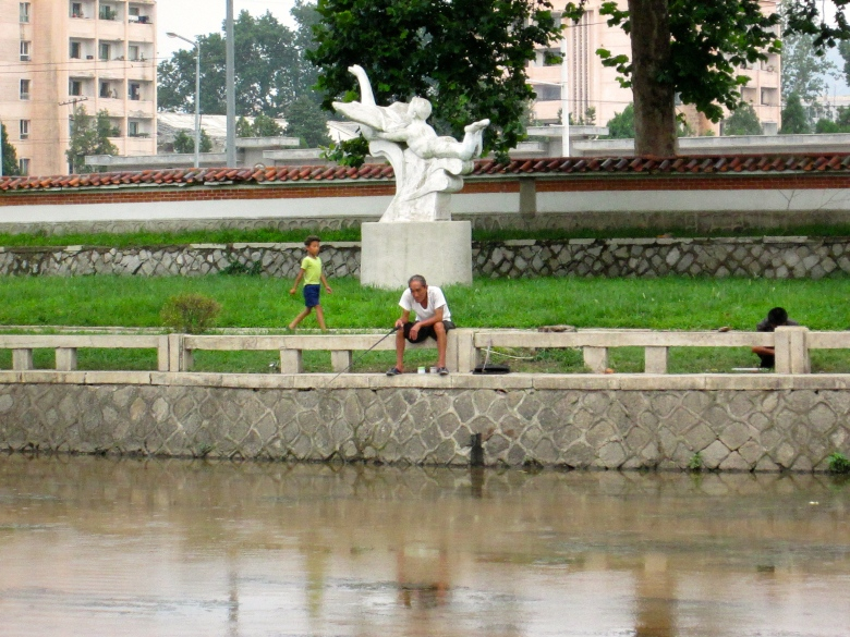 Photo of The Day: Fishing Man in Kaesong