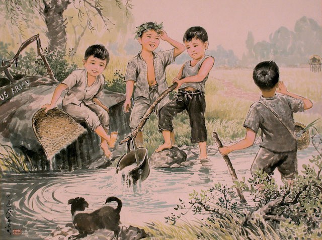 Hong Jae Chol By the Stream korean painting stanito