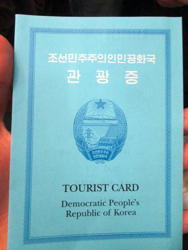 North Korea Tourist card stanito
