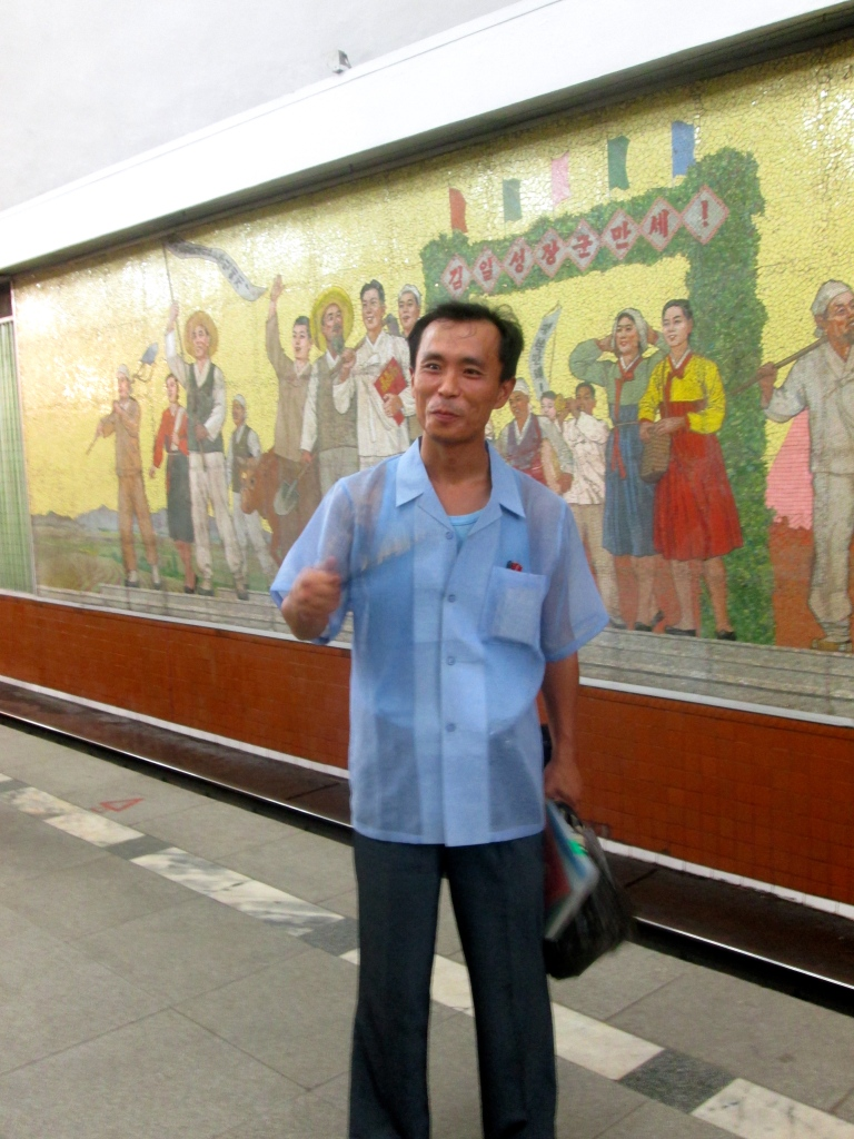 North Korea Friendly Metro passenger
