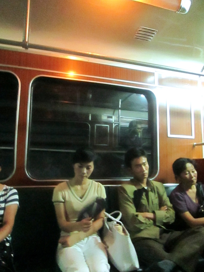 North Korea Metro Passengers 3