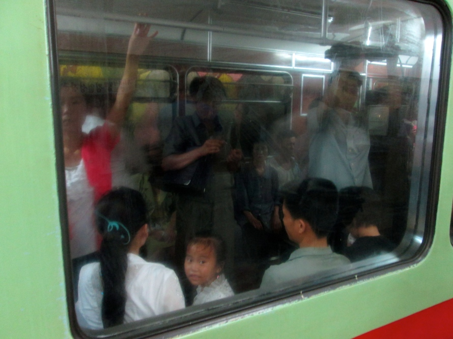 North Korea Metro Passengers 6