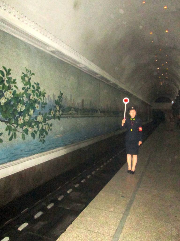 North Korea Metro Police officer