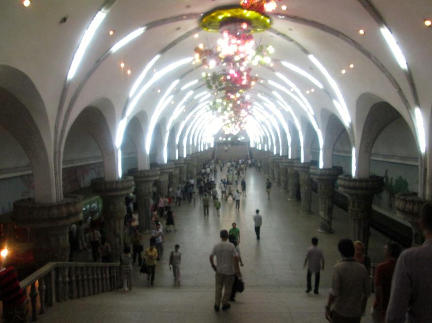 North Korea Puhung Metro Station