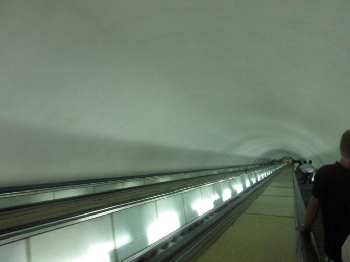 North Korea Underground deep stairs