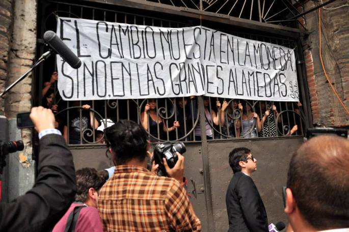 Cleber Olivera Students Protests Chile 2013 at Stanito 14