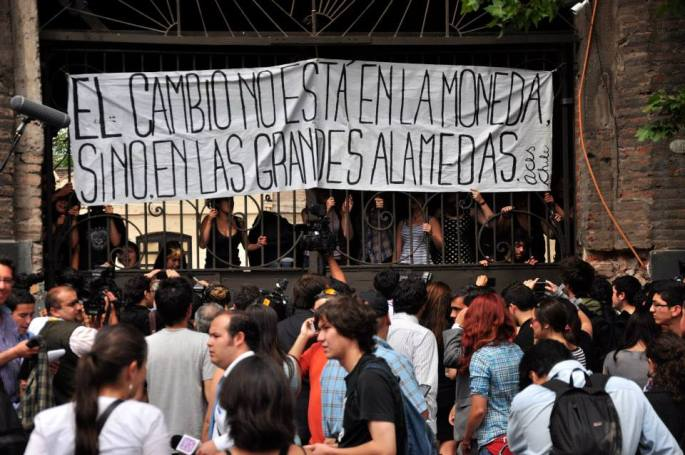 Cleber Olivera Students Protests Chile 2013 at Stanito 16