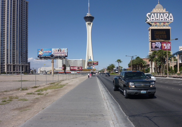 Driving through Las Vegas with Kendra Thornton