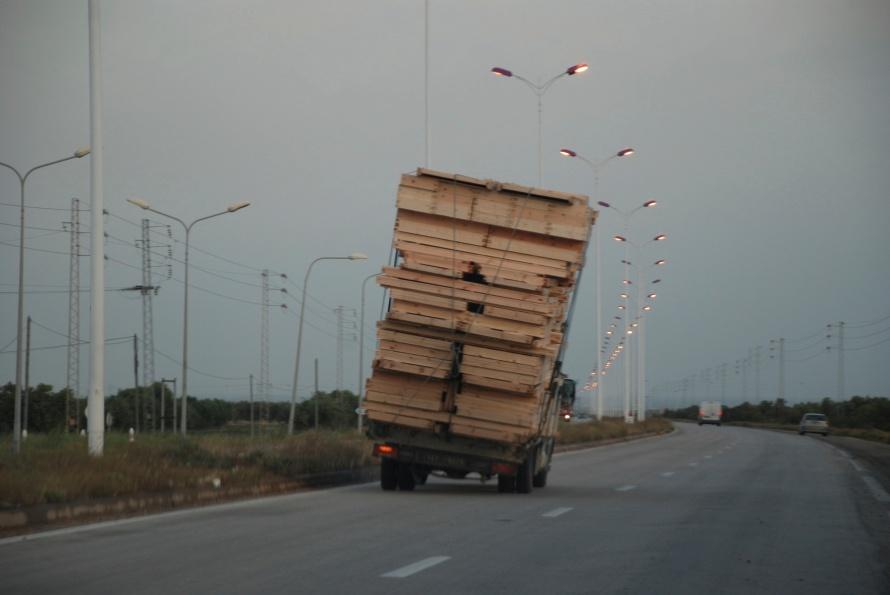 Danger Tunisia road
