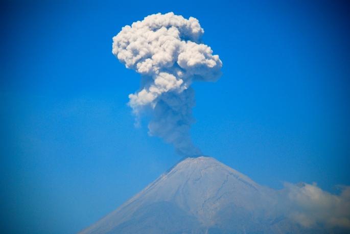 Nevado Colima Volcano eruption 2