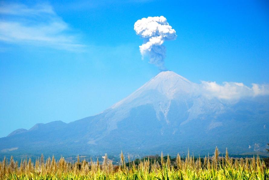 Nevado Colima Volcano eruption