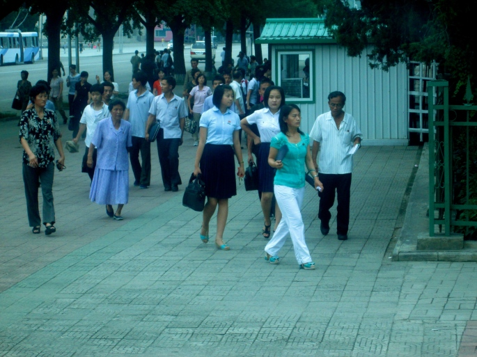 People in Pyongyang