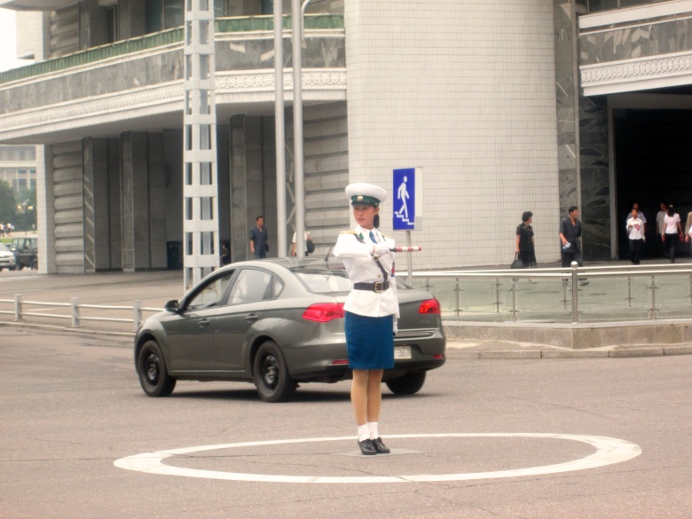 Pyongyang Traffic Officer