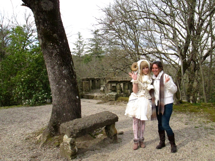 Stanito and Japanese girl Bomarzo
