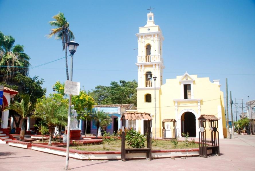 Mexcaltitan church