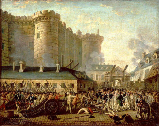 Prise de la Bastille and the arrest of governor M. de Launay