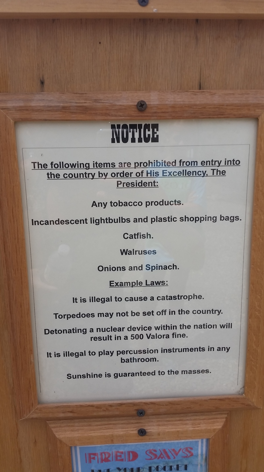 Molossia Bulletin of Customs Regulation