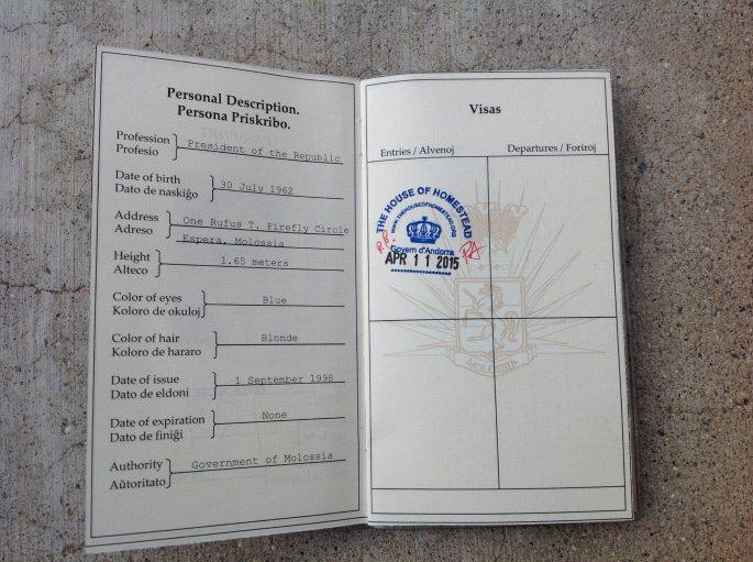 Molossia Passport Stanito