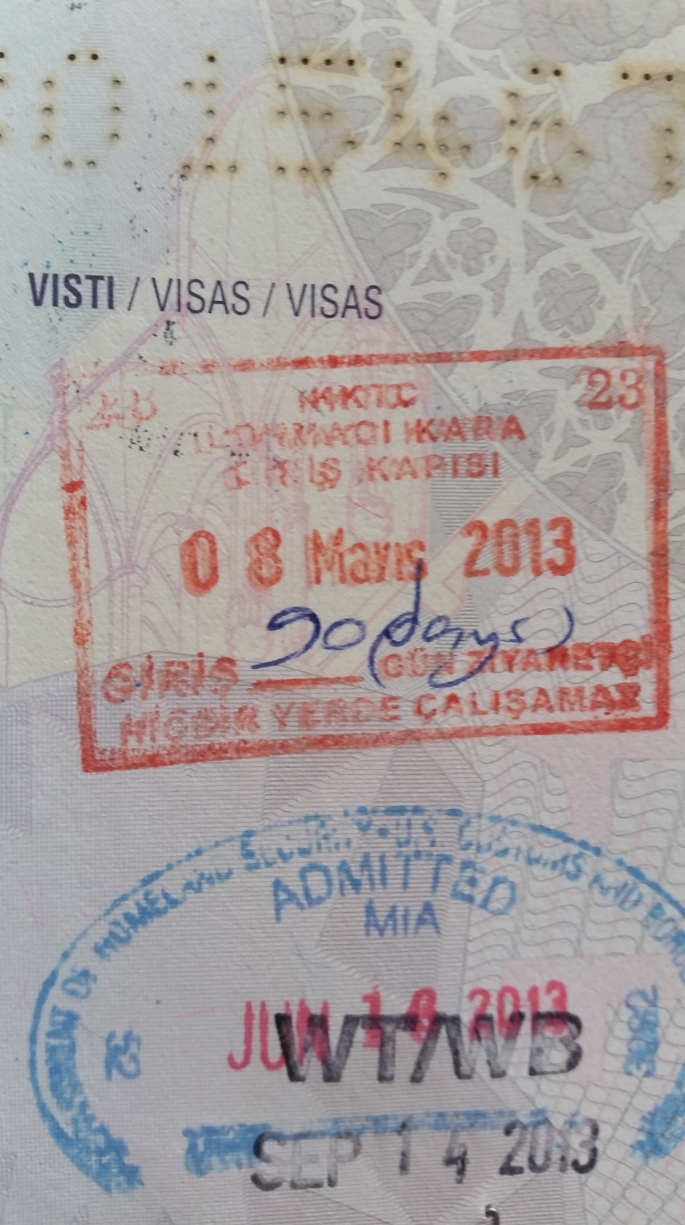 Here is the Stanito's passport stamp from Northern Cyprus