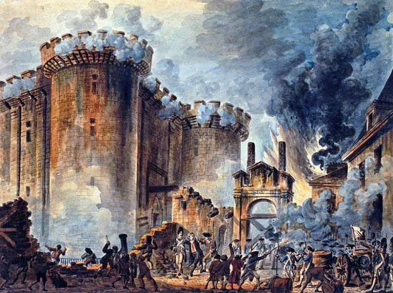'La Prise de la Bastille' by Jean-Pierre Houel