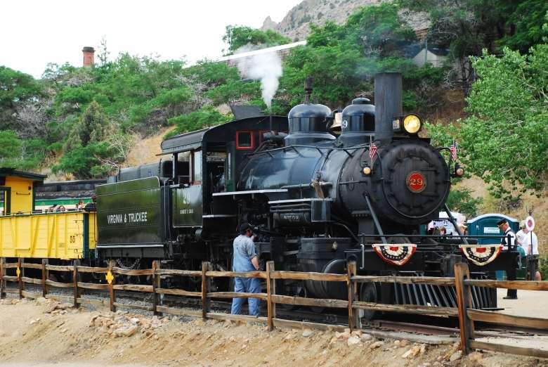 The steam train of Virginia City