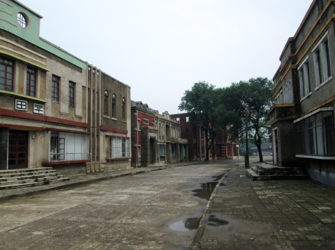 Alley of the Cholliwood Films Studio, else known as Pyongyang Film Studio.