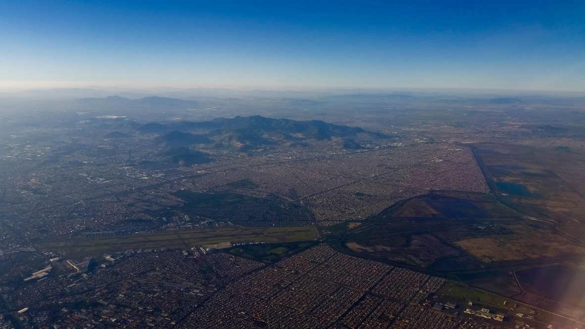 Mexico City from Up in the Air