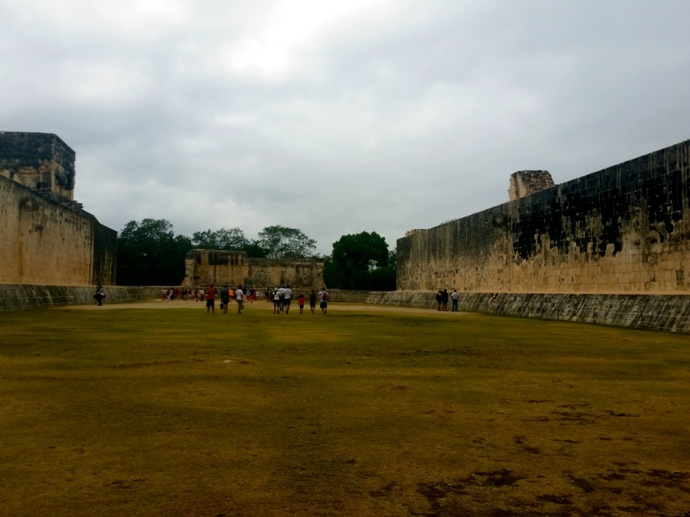 This is the stadium or game court. It was impossible to take a photo without the tourists unfortunately...