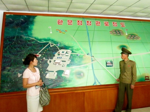 Stanito is listening to DPRK soldier telling about history