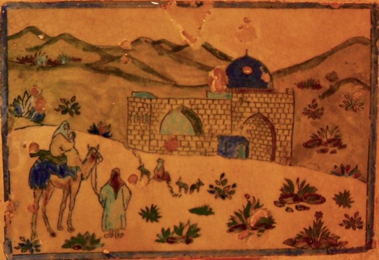old_persian_painting_yazd_iran_stanito